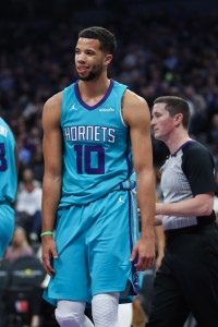 Michael Carter-Williams of the Charlotte Hornets vertical