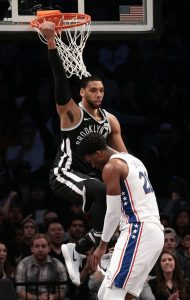 Jahlil Okafor of the Brooklyn Nets vertical